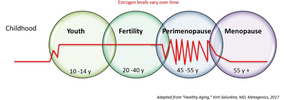 Nồng độ estrogen Chuyển tiếp mãn kinh mãn kinh
