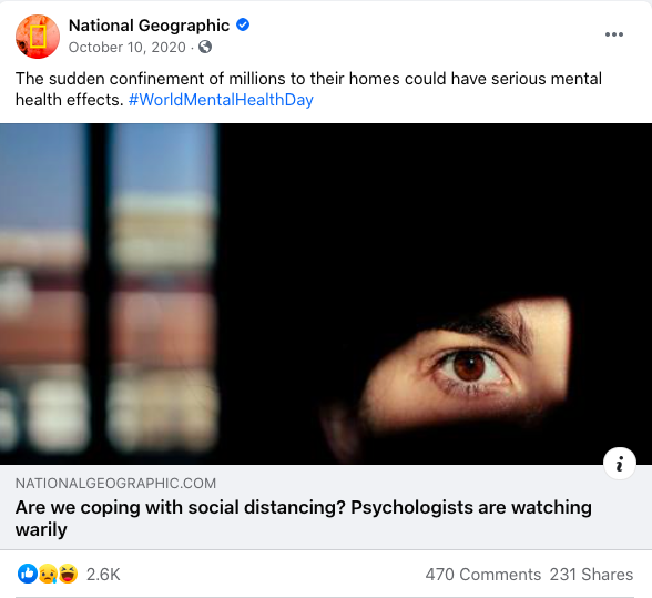 National Geographic Mental Health