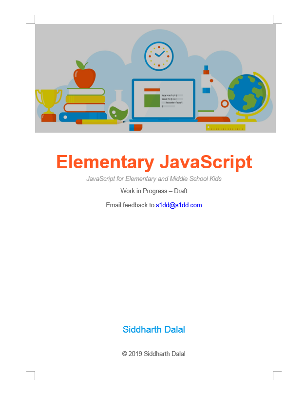 My Book To Teach Kids How To Code in JavaScript