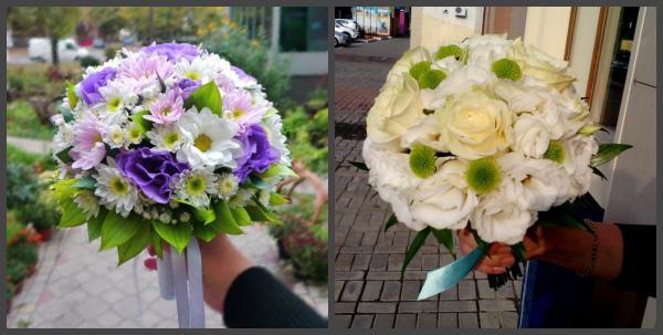 Летние букеты невесты с хризантемами