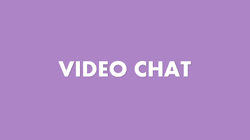 Video chat in customer service