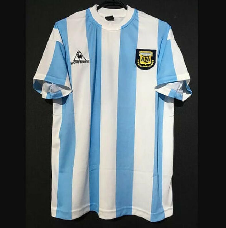 Diego Armando Maradona 10 T-Shirt da Calcio retr/ò Jersays Argentina 1986 Coppa del Mondo per Adulti e Bambini commemorare
