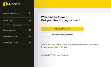 Individual or Business Trading Account