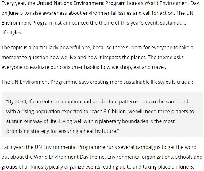 speech essay about world environment day