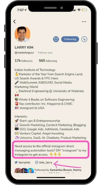 get Instagram traffic and leads from the Clubhouse app
