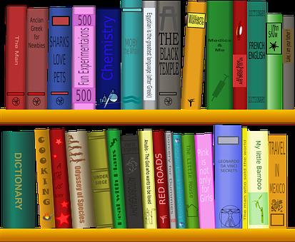 Półka, Książek, Biblioteki, Czytanie