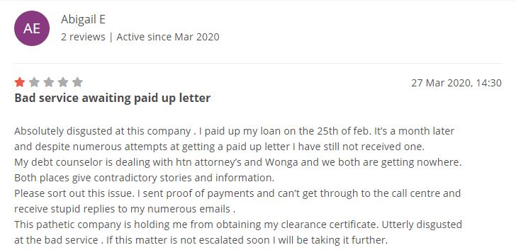 Specific Wonga review