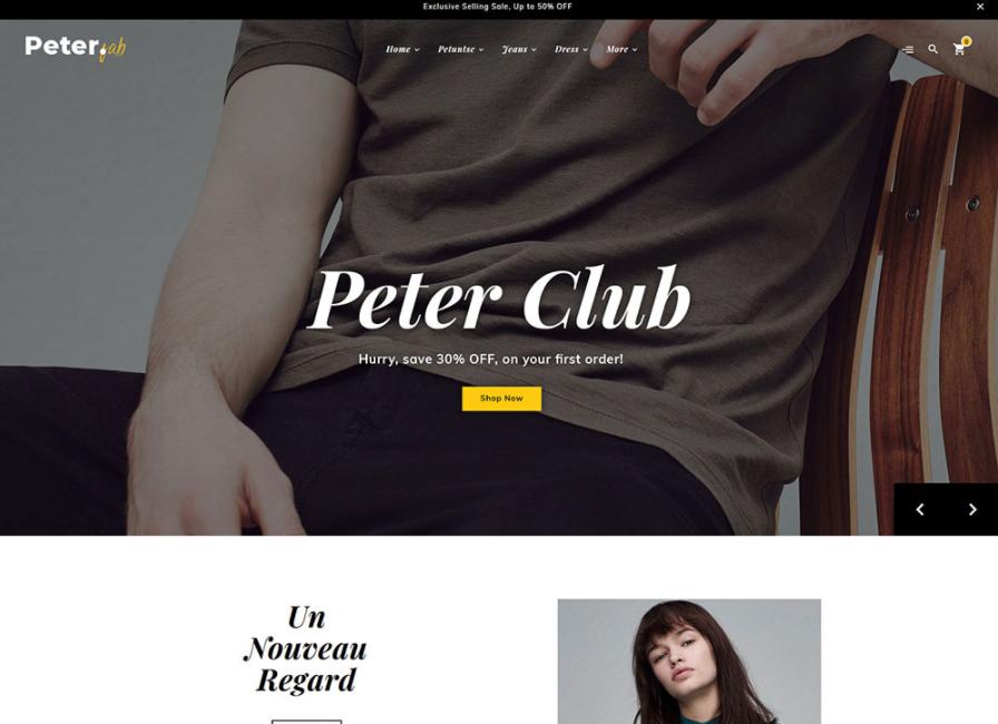 boutique opencart theme peter
