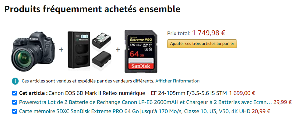 Techniques de ventes en package sur Amazon