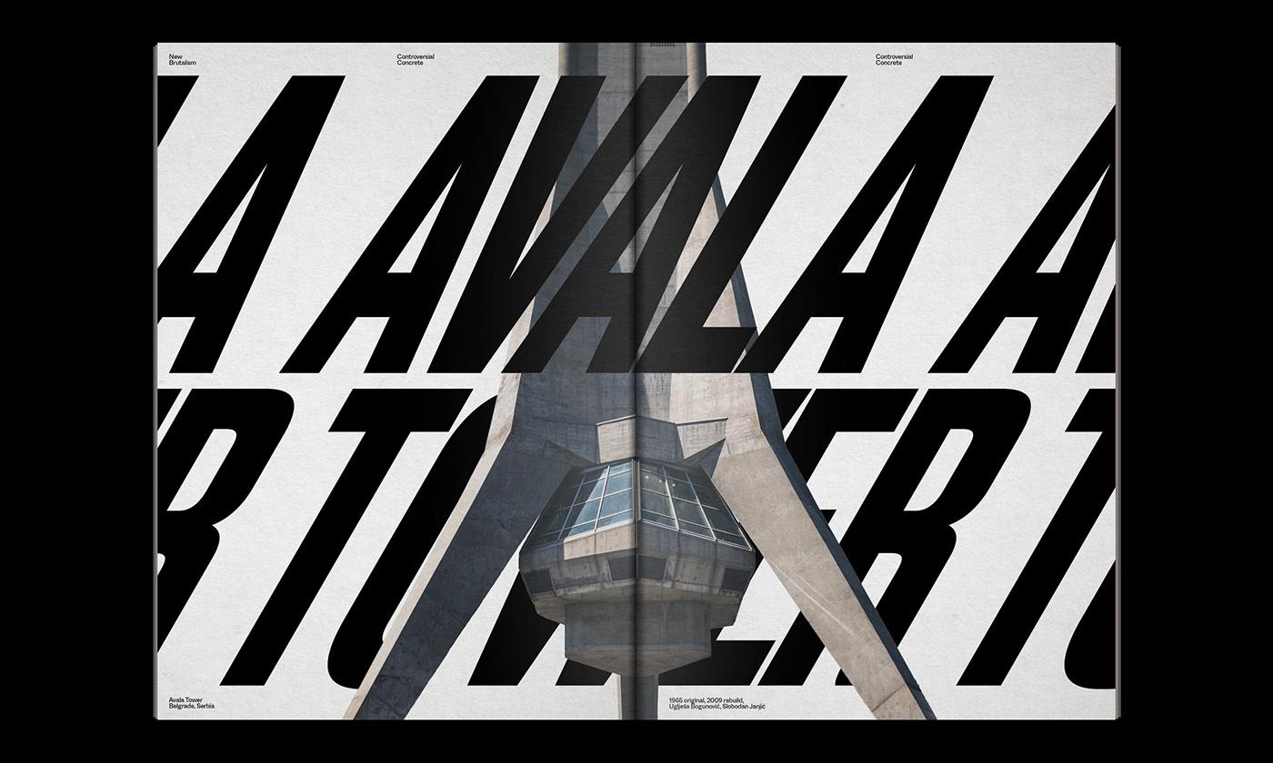 Editorial Design : New Brutalism Controversial Concrete 21