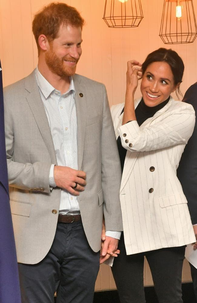 Meghan missed an event on Sunday morning,but had re-emerged by lunchtime.Picture: Samir Hussein/WireImage