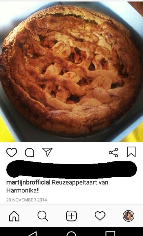 Mijn eerste post: een gefilterde appeltaart