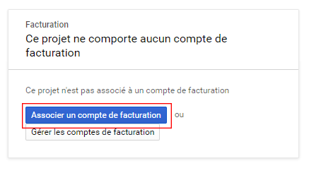 Activation de la facturation API Google Maps