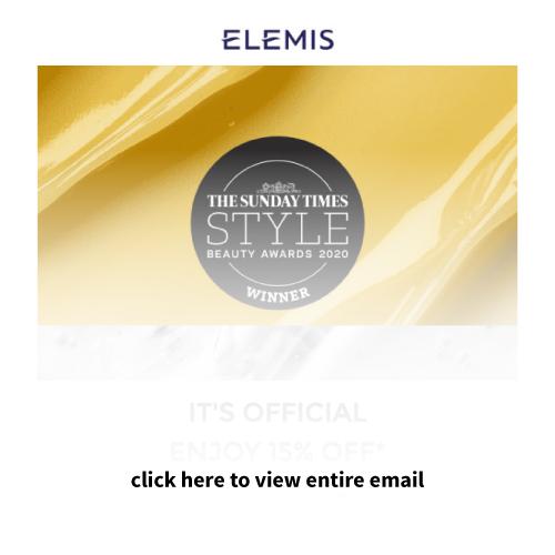 Mailigen Welcome Emails Elemis