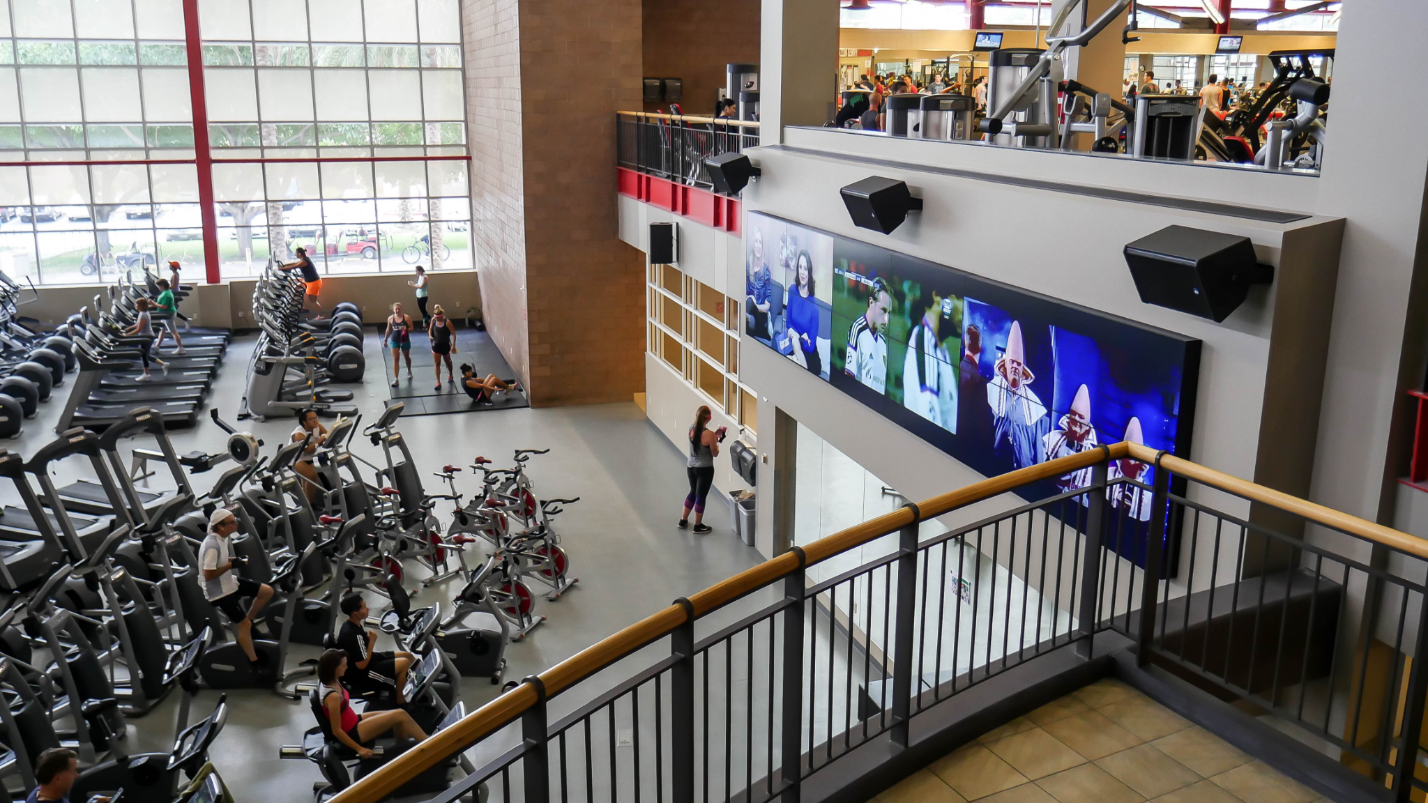 A smart video wall in a university. Source: Businesswire - Smart Video Wall - Rev Interactive