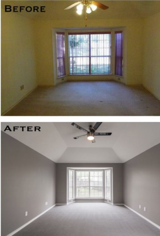 carpet before and after photo