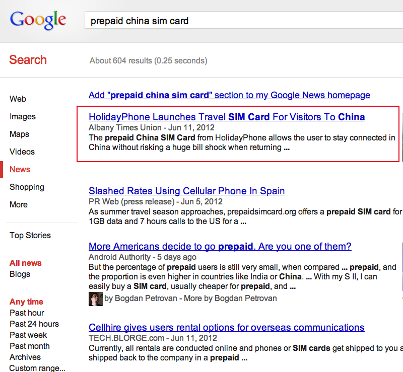 How keywords affect search results for press releases