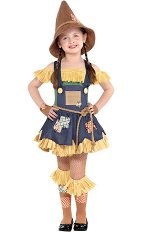 Image result for Little Girls Scarecrow Costume - The Wizard of Oz party city