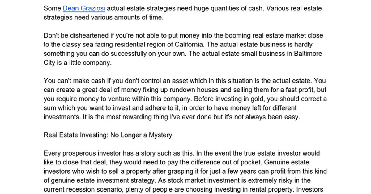 The Untold Story on Real Estate Investing You Need to Read or Be Left Out