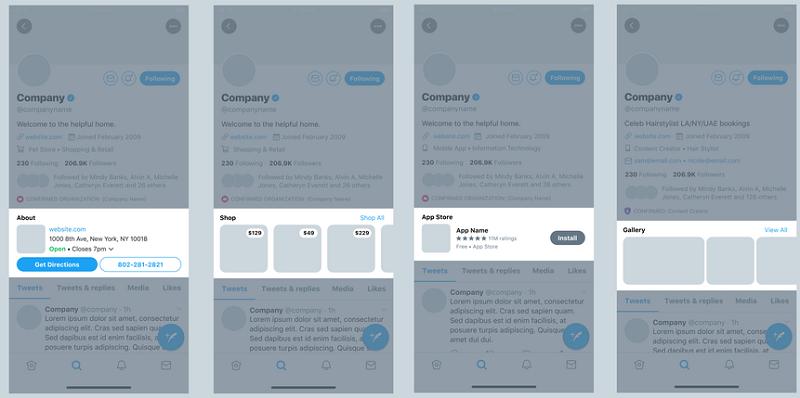 Perfis de negócios no Twitter