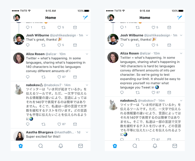 Comparación entre idiomas en Twitter