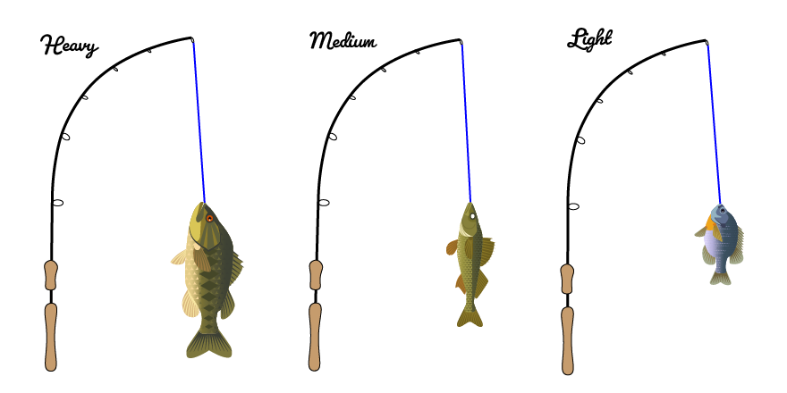 fishing rod power action tailored tackle
