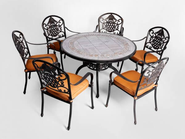 Bộ bàn ghế nhôm đúc ngoài trời - Liên hệ 0968109436