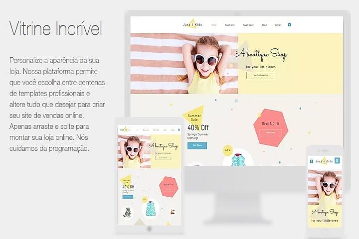 Plataformas para e-commerce Wix captura de tela