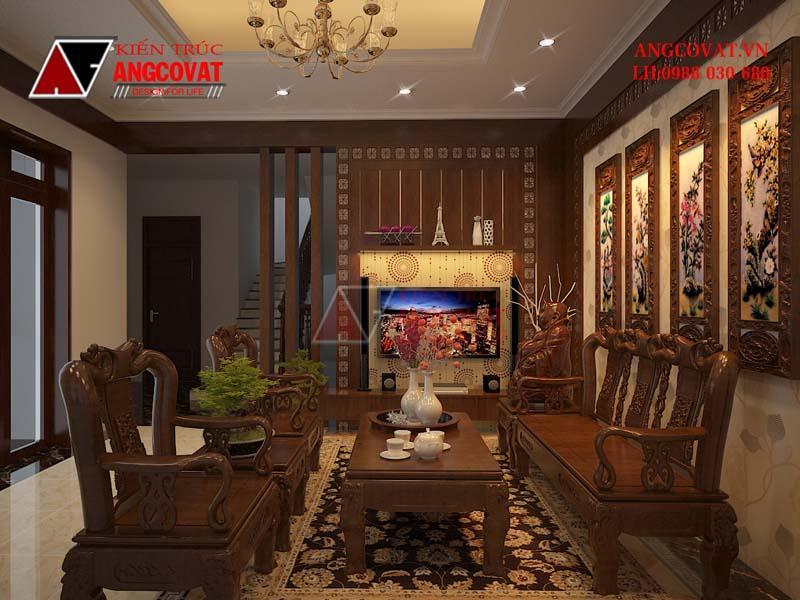 Thiết kế nội thất với các vật dụng làm bằng gỗ tự nhiên