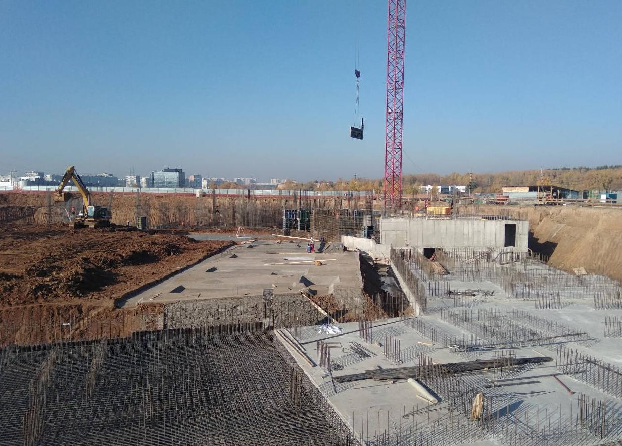 Ход строительства на октябрь 2018 г.