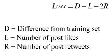 GPT-2 Twitter bot Loss equation