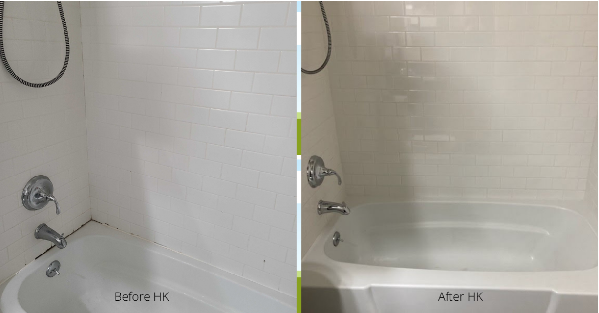 before and after HammondKnoll took care of nasty caulking