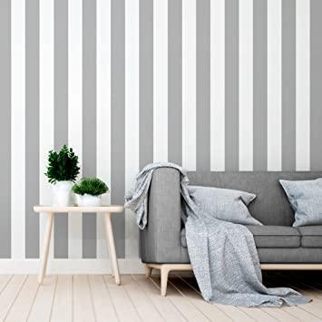 Equipo DRT Siro - Papel pintado a rayas, color gris, 1 rollo: Amazon.es:  Bricolaje y herramientas