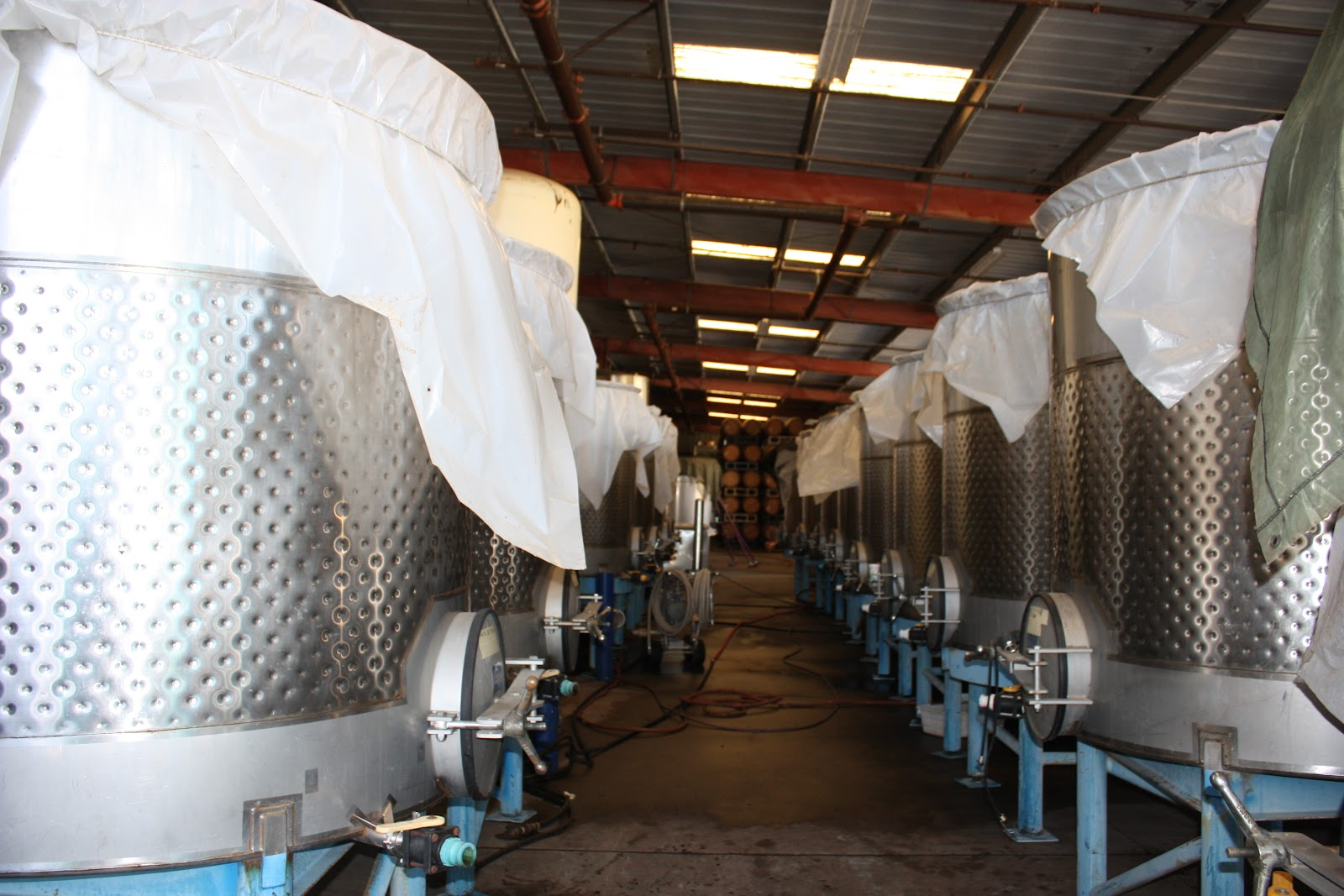 Fermentation tanks at Qupe