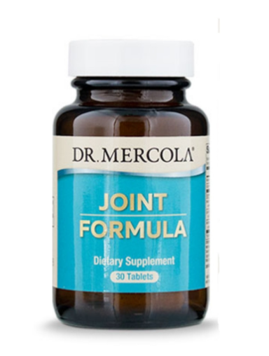A bottle of joint formula capsules from Dr Mercola