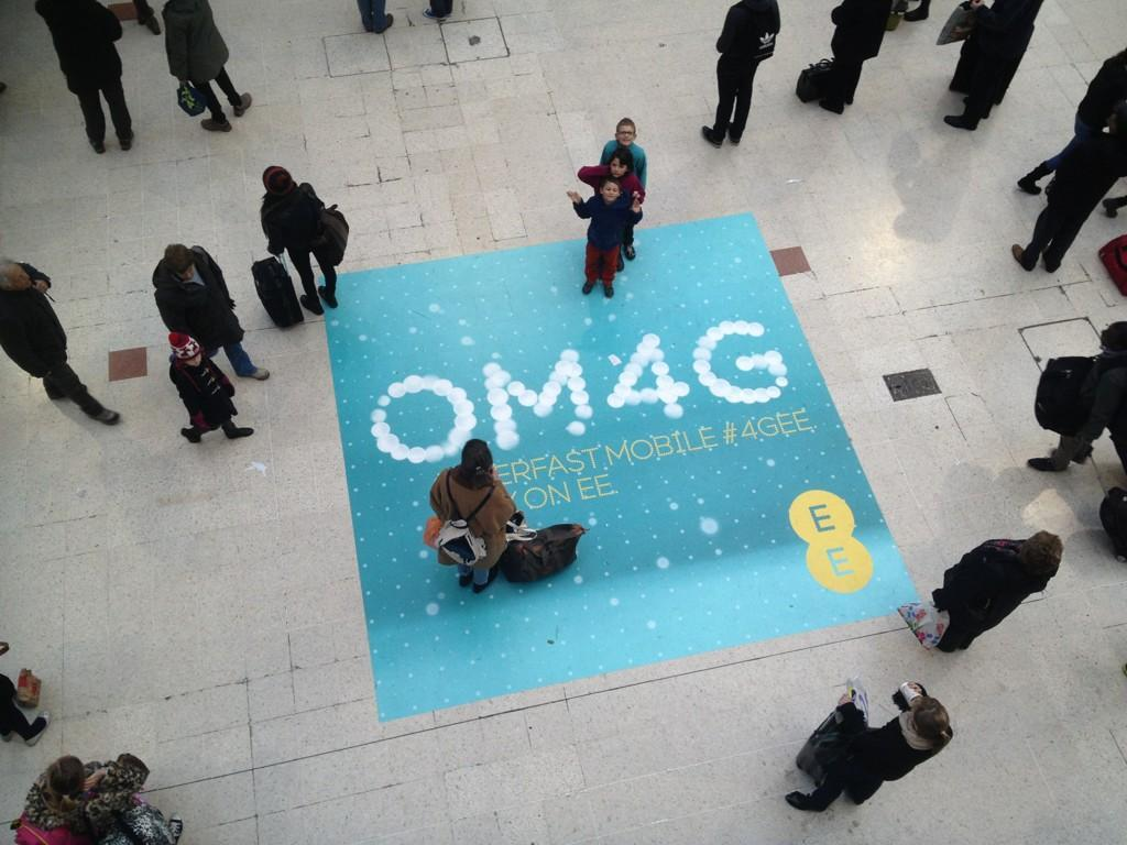 "stu jackson on Twitter: ""OM4G. Waterloo station. #EE #4GEE #OM4G ..."