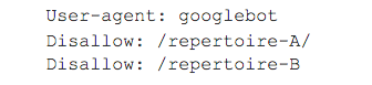 Screenshot robots-txt