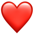 Red Heart on Apple iOS 13.3