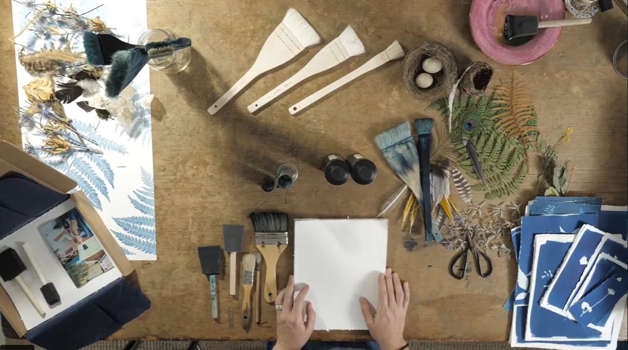 materials needed for cyanotypes