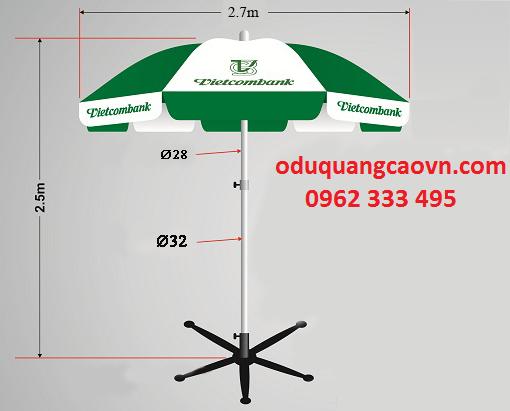 Cấu tạo cơ bản của ô dù quảng cáo