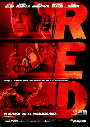 Przód ulotki filmu 'RED'