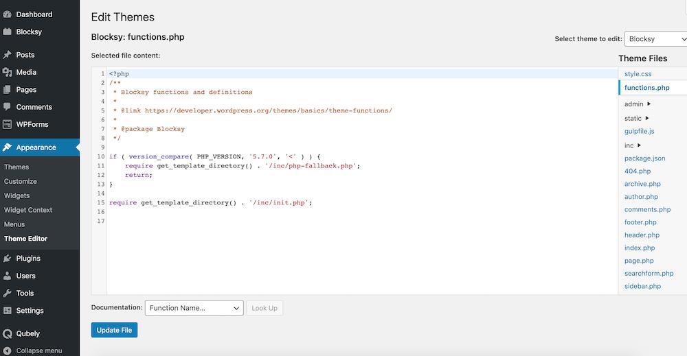 Add Custom PHP Code to WordPress Sites manually