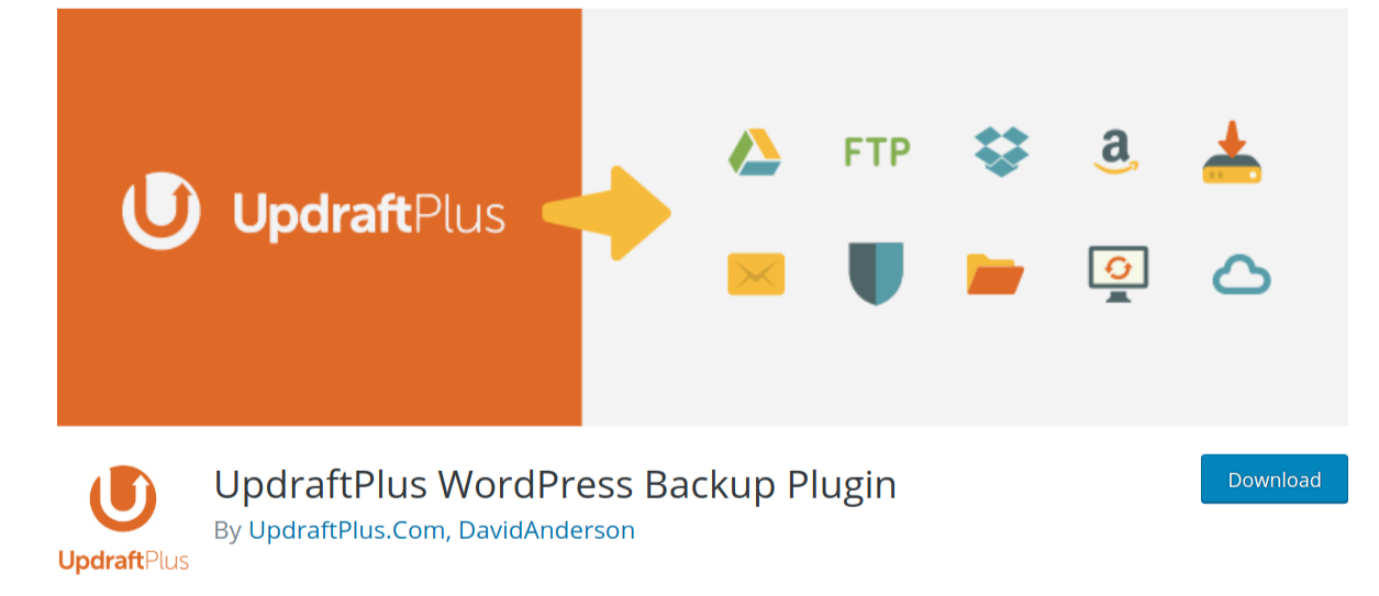 updraftplus wordpress backup plugin header