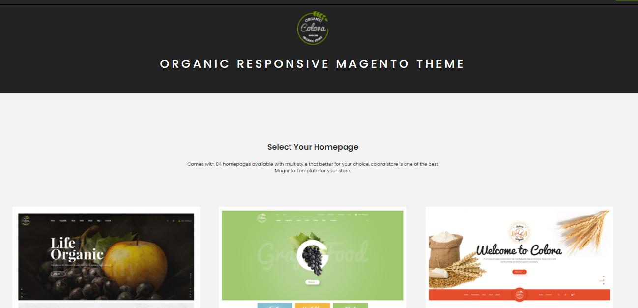 Colora-organic Magento themes