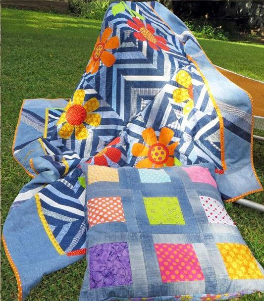Denim and Daisies Quilt - Pattern available on Bluprint.com