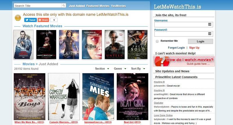 letmewatchthis homepage