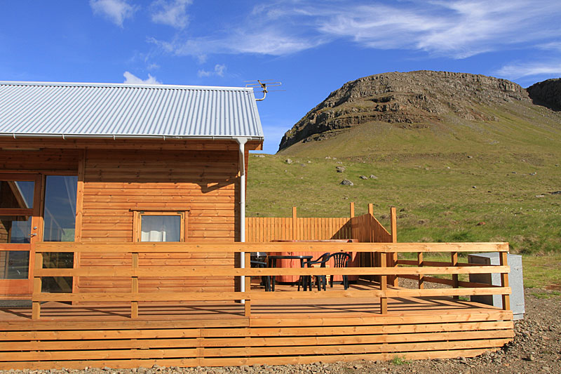 A cottage in the Westfjords surrounded by nature