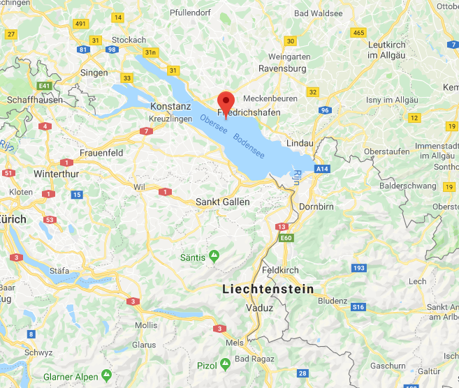 Bodensee Oostenrijk Google Maps