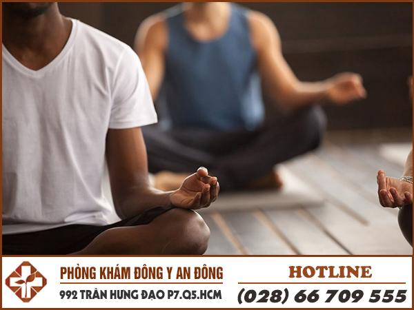 Thiền giúp giảm căng thẳng rất tốt.