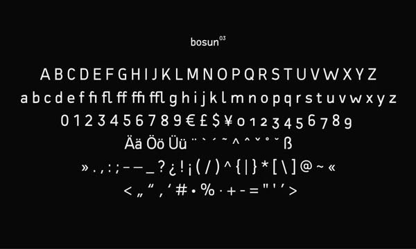 Bosun Free Fonts